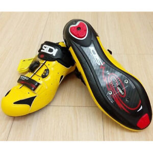 New-SIDI-Ergo-4-Carbon-Road-Bike-Cycling-Shoes-Yellow-Black-US-Warehouse