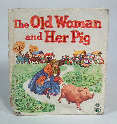 Vintage Tell-a-Tale Book The Old Woman And Her Pig