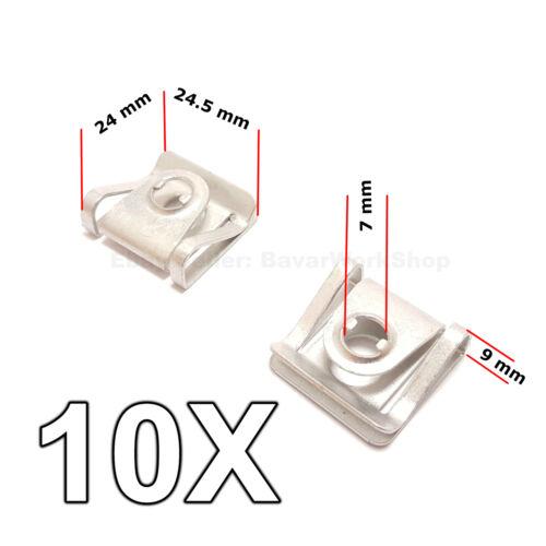 10X Unterfahrschutz Schrauben Halteklammer Schutz für Audi VW Skoda