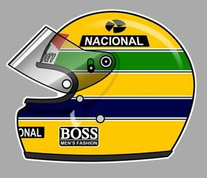 Ayrton-SENNA-helmet-left-Sticker-gauche