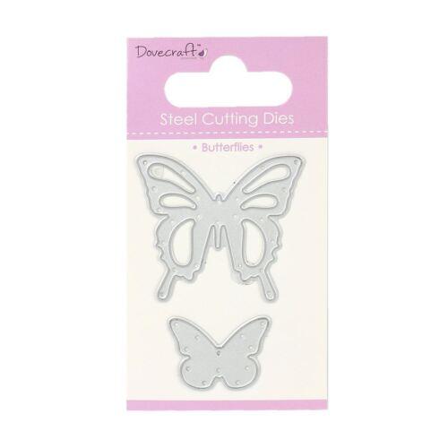Trimcraft Dovecraft Mini Metal Paper Card Craft Die Set Butterflies