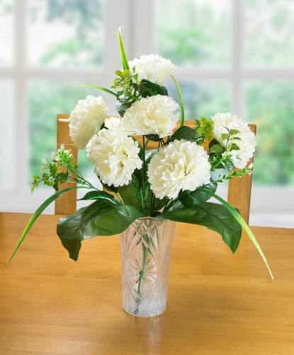 Carnation BushRealistic Artificial Flowers for your HomeRed White or Yell