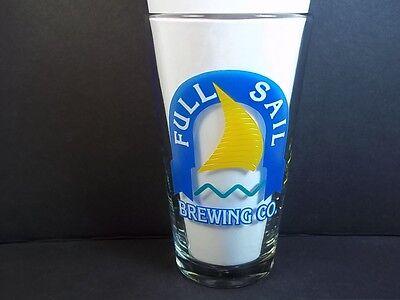Full Sail Brewing Co pint beer glass Yellow /& blue logo Hood River Oregon