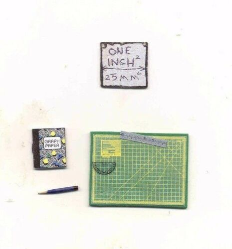 Drawing Set dollhouse miniature K2044 Ann Richards 1//12 scale Crafting