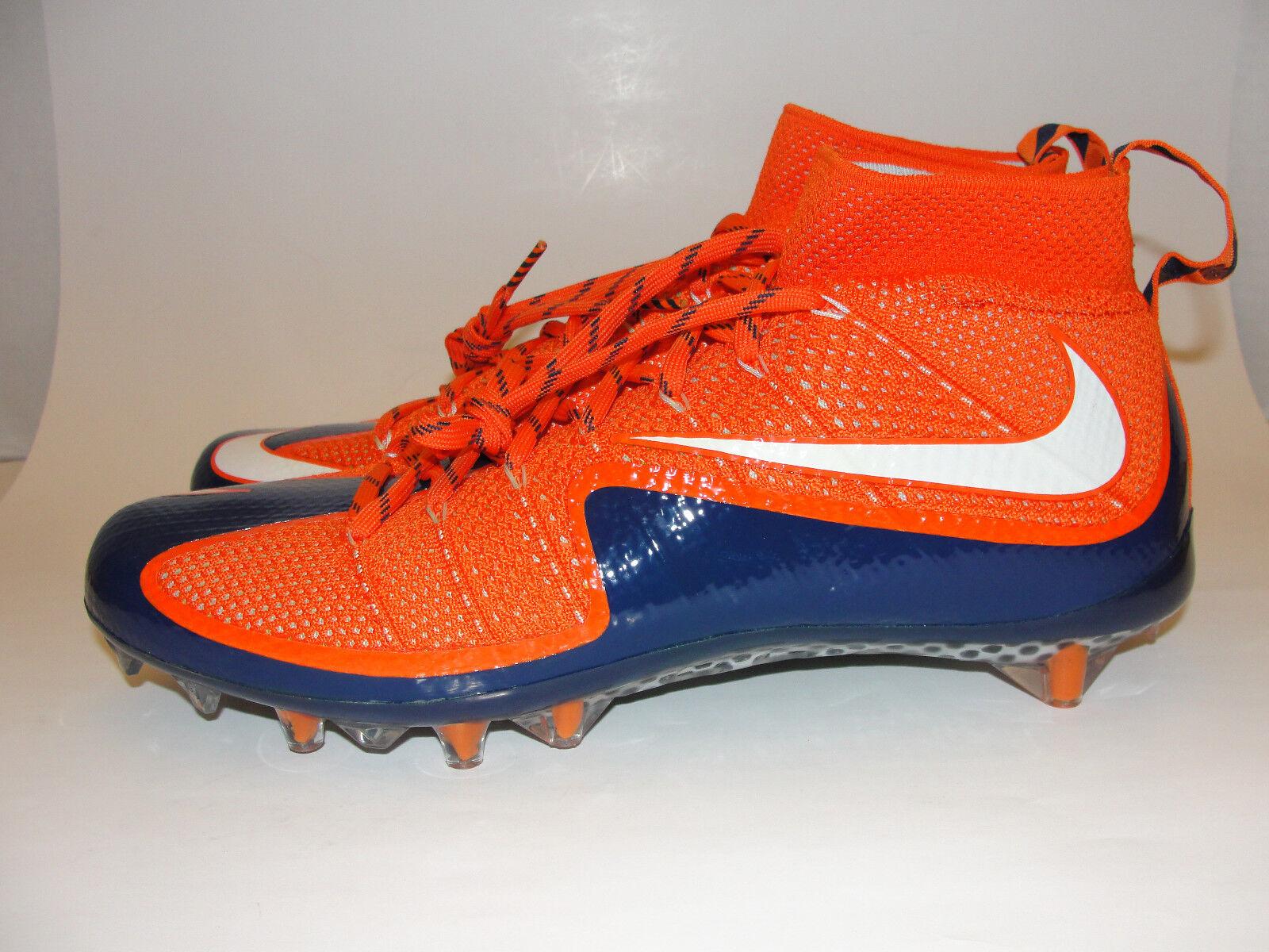 Nike Vapor Untouchable TD Flyknit Carbon Football Cleats sz sz sz 12 orange bluee fda5f1
