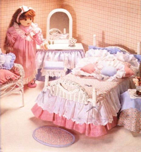 "McCalls 8510 18/"" Girl Doll Pattern Bedroom Accessories Bedspread Bed Blanket"