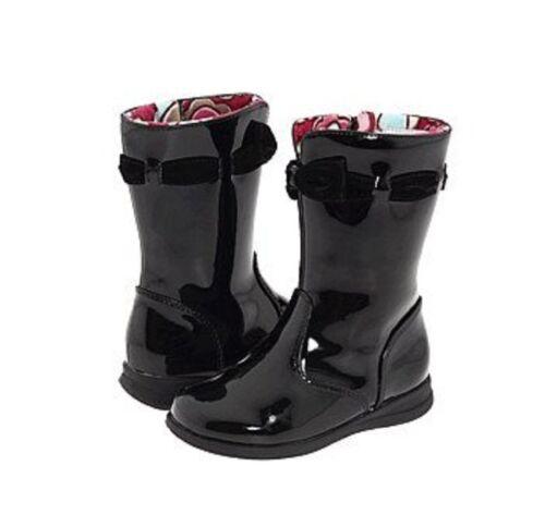 Rachel Shoes Toddler//Little Kid Nova Fashion Boot,Black Patent,9 M US Toddler