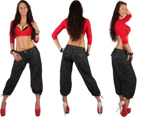 JEANS donna pantaloni Caprihose Capri Jeans Capri Pump Pluder ALADIN BLU d99-1