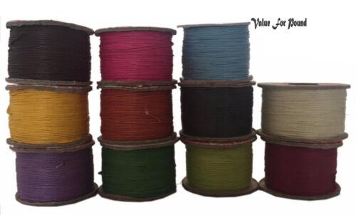 Pulsera Collar Moda Con Cuentas Abalorios Cuerda 1 mm Hilo Encerado Joyería