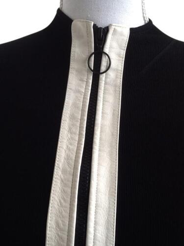 blanc et pour Concepts Inc Noir fermeture n avec cuir International en I femmes devant glissière à bordure c qAaqnvPwS