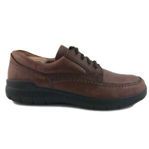 ECCO-Mens-Oxfords-Shoes-Brown-Leather-Lace-Up-Moc-Toe-US-11-11-5-EUR-45