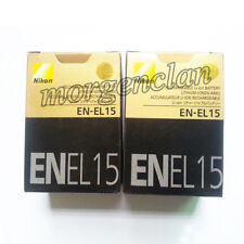 Two (2x) EN-EL15 Genuine Battery For Nikon D7000 D800 D800E D7000 D600 MB-D12