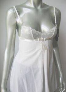 A428C Elle Macpherson NEW E10-542B Bridal Boudoir 012 Sheer French Lace Babydoll