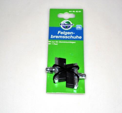 Radsport Bremsschuhe Bremszubehör Felgenbremsschuhe für Aluminiumfelgen 2 St.