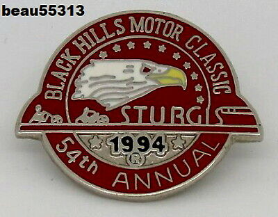 1994 Sturgis Chamber Official Black Hills Motor Annual Rally Pin only title pin