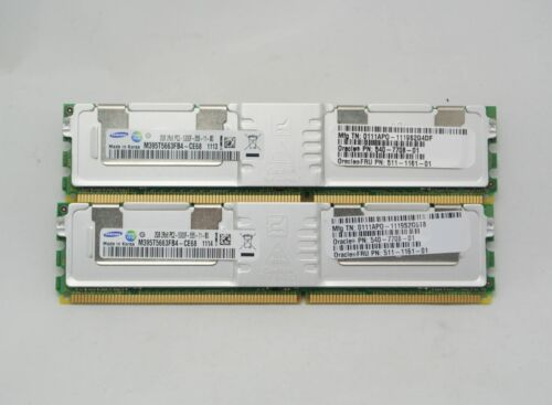 SUN ORACLE SESX2B2Z X4203AF 4GB 2 x 511-1161 Memory Kit TESTED FREE SHIPPING