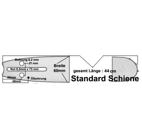 Schwert 38cm 3//8 *1,5 passend für Dolmar Motorsäge 111 112 113 114 2 Ketten