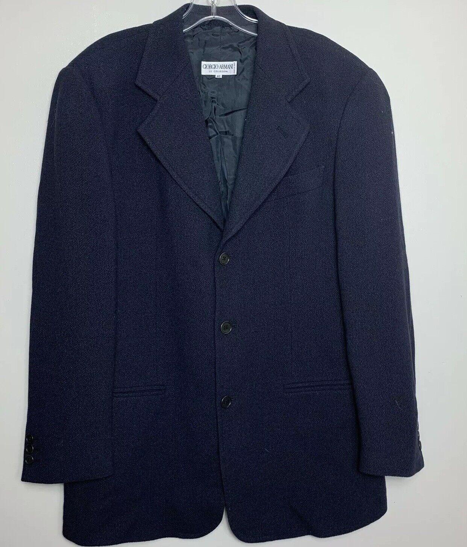 Armani collezioni herren Suit jacke Navy Blau Größe 40 (Größe groß) Made In