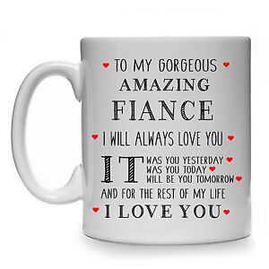 Image Is Loading TO MY GORGEOUS AMAZING FIANCE MALE MENS GIFT