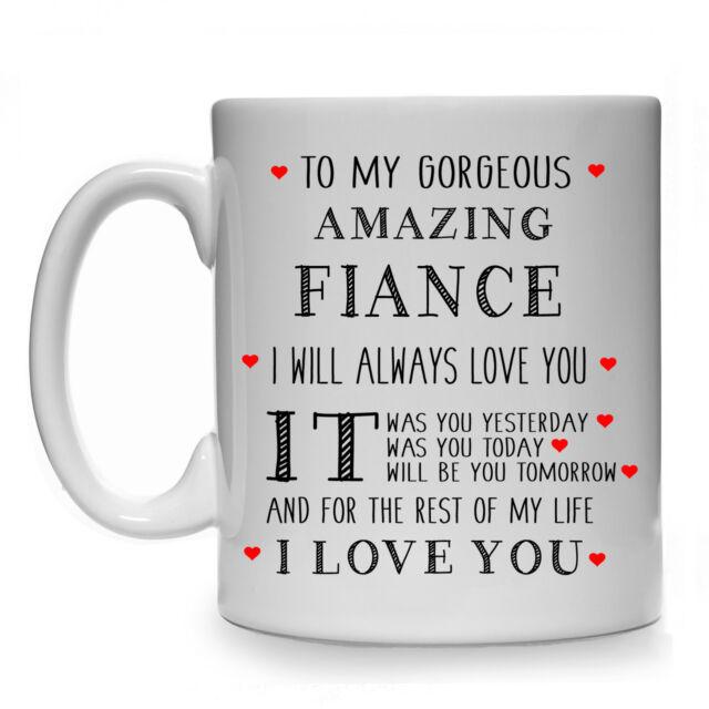 To My Gorgeous Amazing Fiance Male Mens Gift Mug Cup Wedding Present Birthday
