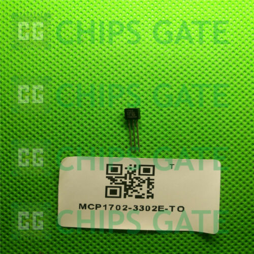 MCP1702-3302E//TO IC Reg Ldo 5PCS 3.3V 0.25A TO92-3 Microchip