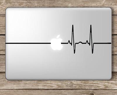 Heart Beat EKG - Apple Macbook Laptop Vinyl Sticker Decal