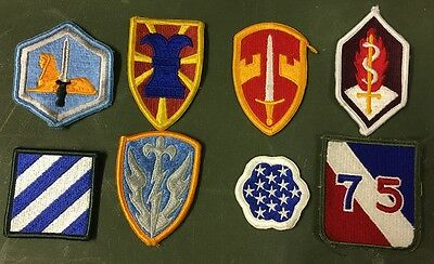 8 Us Army Military Airforce Assorted Uniform Patch Ricamate Patch-mostra Il Titolo Originale