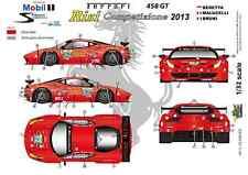 """[FFSMC Productions] Decals 1/32 Ferrari F-458GT """"Risi"""" 12 Hours of Sebring 2013"""