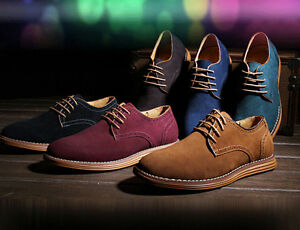 NEW 2017 Suede European style leather Shoes Men's oxfords ...