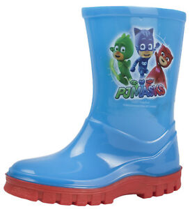 authentic quality new product factory price PJ Masks Wellington Boots Boys Blue Wellies Gekko Cat Boy Rain ...