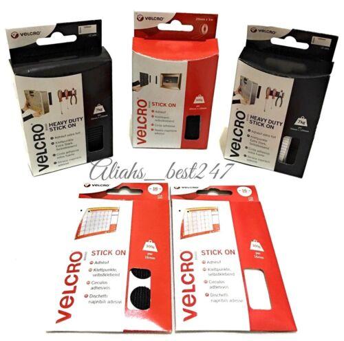 VELCRO ® Pegar En Auto Adhesivo de montaje Cinta Tiras moneda gancho y lazo y más.