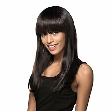NEW MAYSU Extra Long Straight Real Human Hair Wig for Black Women Natural Black