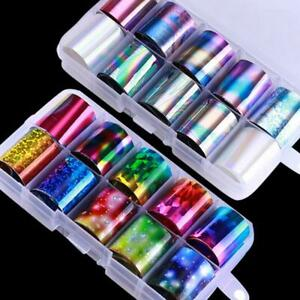 10-Pcs-Holographic-Nail-Foil-Set-Transparent-AB-Color-Nail-Art-Transfer-Sticker