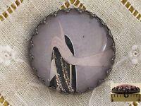 1 Erte Elegant Hand Glitter Art Deco Fashion Glass Metal Sewing Button Er30