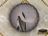 1 Erte Elegant Hand Glitter Art Deco Fashion Glass Metal Sewing Button Er30
