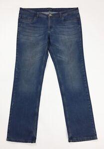 Bell-bottom-jeans-uomo-usato-denim-W42-tg-56-gamba-dritta-boyfriend-T4687