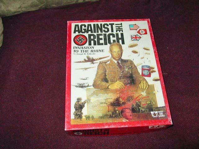 West End Games - AGAINST THE REICH - Invasion to the Rhine - 1986 - Vintage