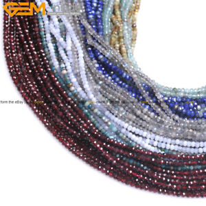 AAA-Grade-Natural-Stone-Faceted-Rondelle-Spacer-Beads-For-Jewelry-Making-15-039-039