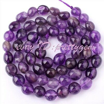 5-10mm Natural Freeform Amethyst Gemstone Beads For Jewelry Making Strand 15""