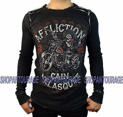 Affliction Velasquez Caballero A13813 New Men`s Black//Brown Reversible Thermal
