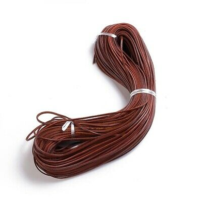 50 mètres cordon cuir lacet cuir naturel Ø 1,5 mm