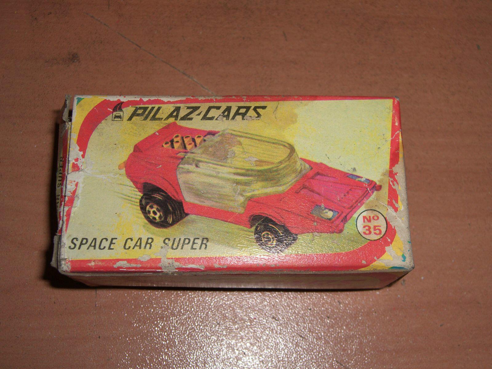 80's Vintage griego pilaz Juguetes espacio coche Super de de de fundición 1 64 Mib 2 7c0369