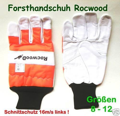 Schnittschutzhandschuh Gr.9 Schnittschutz li 16m//s Forsthandschuh für Kettensäge