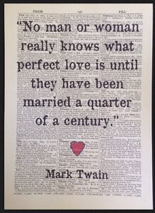 Love Quote Print Vintage Dictionary Page Wall Art Picture Mark Twain