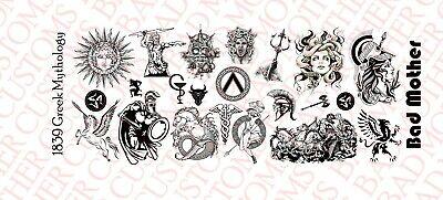 1//6 Scale Custom Tattoos Waterslide Decals Asian Art variety pack