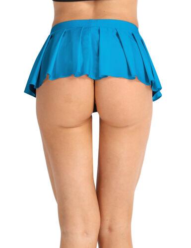 Women School Girls Mini Flared Pleated Skirt High Waist Mini Dress Dancewear