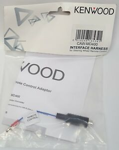 Kenwood-CAW-MD400-Car-Adapter-cable-to-convert-Hossiden-connector-to-single-wire