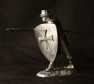 Knecht of Teutonic Order Tin Toy soldier 54 mm., figurine, metal sculpture.
