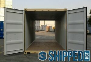 TUNNEL SHIPPING CONTAINER 20 DOUBLE DOORS SECURE STORAGE in