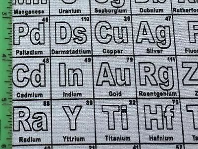 Rpe513d periodic table of elements chemistry science math cotton rpe513d periodic table of elements chemistry science math cotton quilting fabric urtaz Choice Image